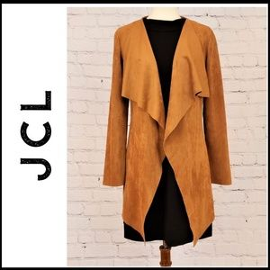 JCL PLUSH Vegan Suede Waterfall Blazer/Cardigan